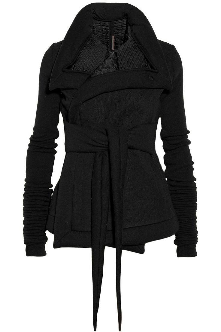 Rick Owens Lilies | Quilted jersey jacket | NET-A-PORTER.COM: Wraps Jackets, Lilies Quilts Jersey, Owens Lilies Quilts, Jersey Jackets, Fall Coats, Black Wraps, 1600 Blankets, Rick Owens, Black Jackets