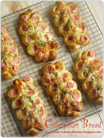 Pin it!step by step caterpillar bread