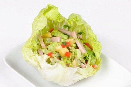 Melon & ham salad