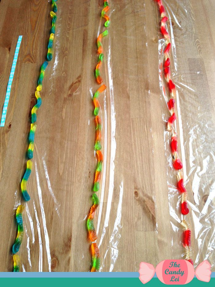Step 3 Gummy Worm Candy Lei