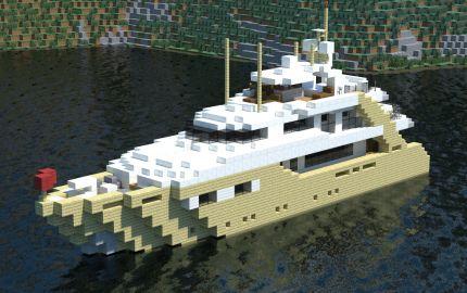 Alexandar V Luxury Yacht, creation : Minecraft boat