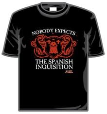 Ninguém espera uma camiseta da Inquisição Espanhola...