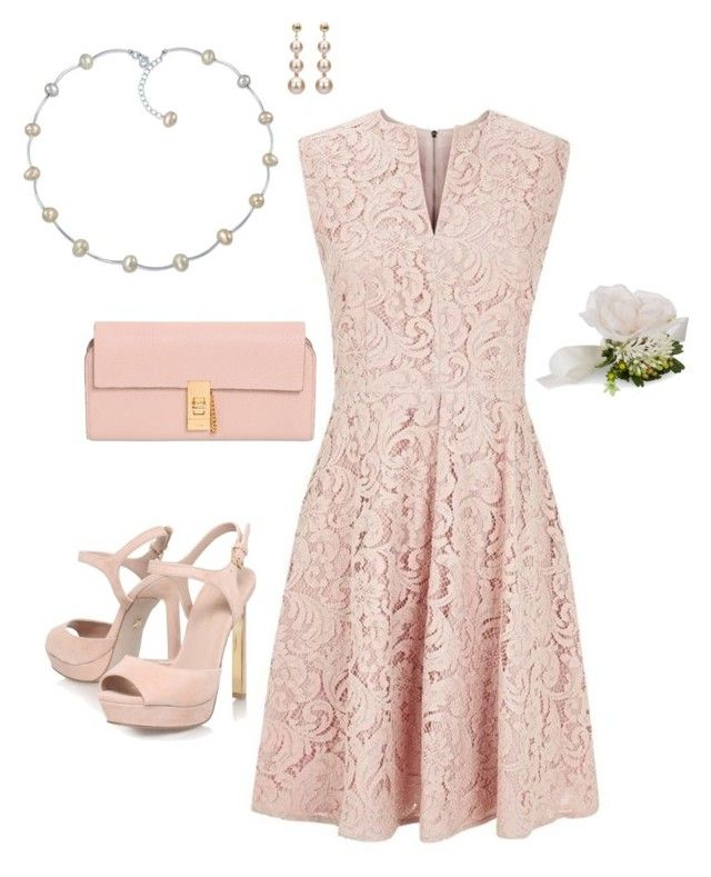 """wedding guest contest"" by hokie-engineer-grl ❤ liked on Polyvore featuring Burberry, KG Kurt Geiger, Chloé, Bling Jewelry, DaVonna, Accessorize and contestentry"