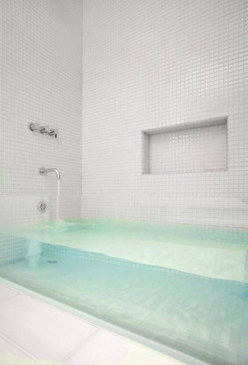 An acrylic bathtub would be the perfect place to unwind after a long day.