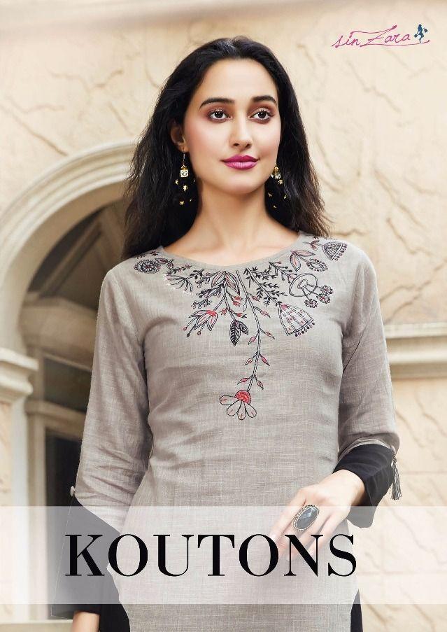 2407351a3d75 Sin Zara Koutons Designer Premium Linen Embroidered Long Flair ...