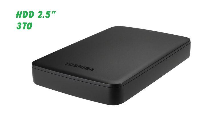 Disque Dur Externe 2.5 USB3 de 3To Toshiba Canvio à 107 http://ift.tt/2lCDFeX Bon Plan - Rosty Les Bons Tuyaux