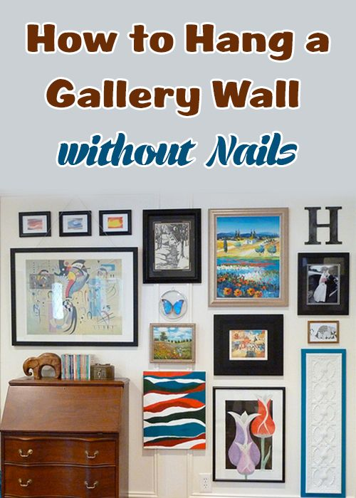 How To Hang A Gallery Wall Without Nails Gallery Wall