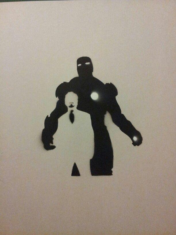Delightful Spray Paint Stencil Ideas Part - 12: #ironman #spraypaint #stencil