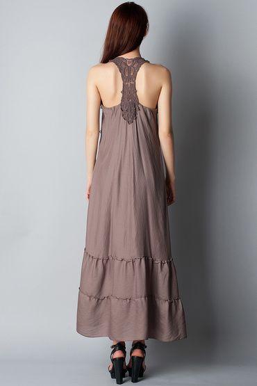 Серое платье макси Patrice Brile