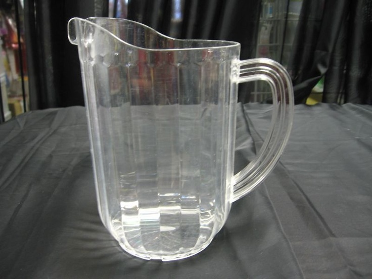 Pitchers. Plastic Pitchers are great for pop or beer.