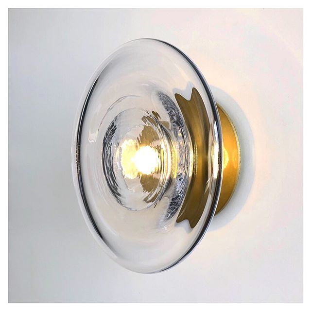 Our New Sol Wall Light With Brass Finish Wall Mount Hand Blown In Currumbin Australia Now Ava Hand Blown Glass Lighting Hand Blown Glass Brass Wall Light