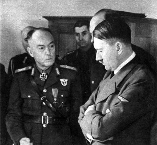 Prime Minister Ion Antonescu of Romania and Führer Adolf Hitler of Germany in conference, circa 1940s