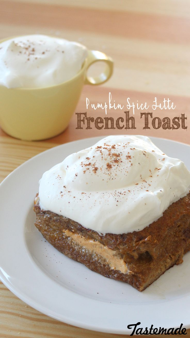 French toast stuffed with pumpkin cream cheese is the perfect ...