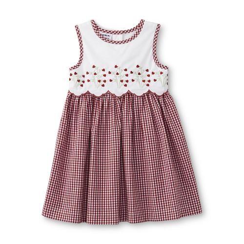 Blueberi Boulevard Infant & Toddler Girl's Sleeveless Dress - Gingham - Kmart