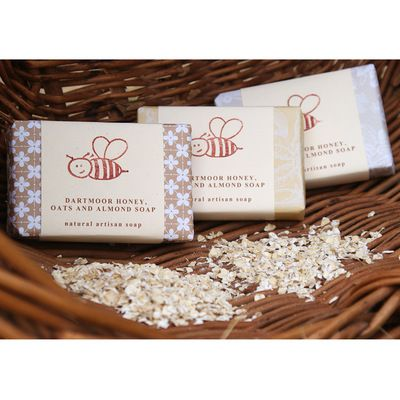 Naturally Made Honey, Oats & Almond Soap #gifts #devon #handmade