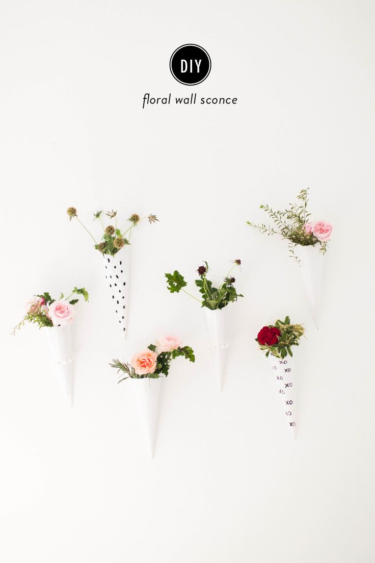 DIY Floral Wall Sconce