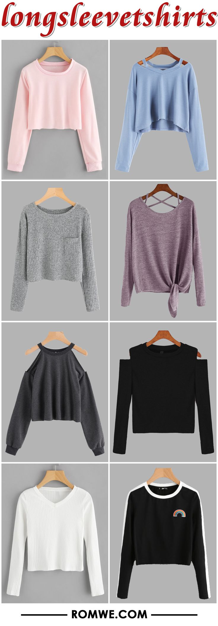 casual long sleeve t shirts from romwe.com