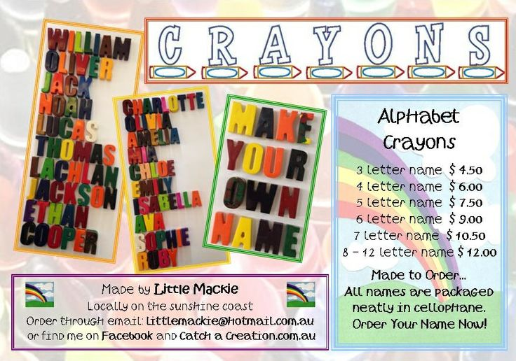 Contact littlemackie@hotmail.com.au for enquiries and orders.