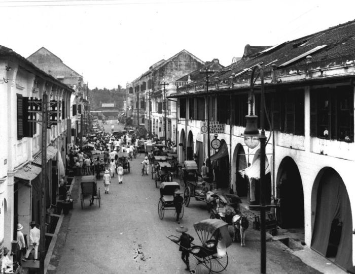 The Chinese district of Medan, North Sumatra, in 1925