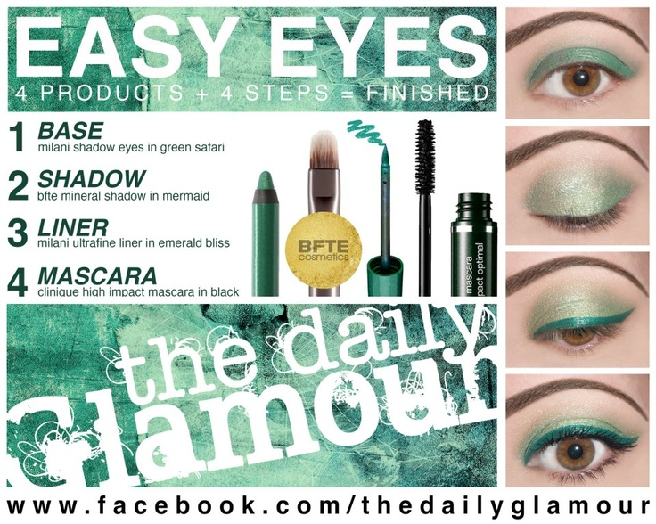 BFTE's Shadow in Mermaid was used to create this beautiful green look by The Daily Glamour