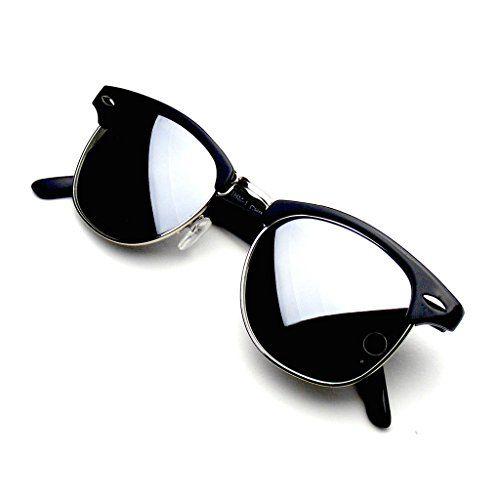 Retro Fashion Half Frame Flash Mirror Lens Clubmaster Wayfarer Sunglasses (Silver Mirror) Emblem Eyewear® http://www.amazon.co.uk/dp/B00LAQ1OU8/ref=cm_sw_r_pi_dp_h2Z0wb1VMTMQB