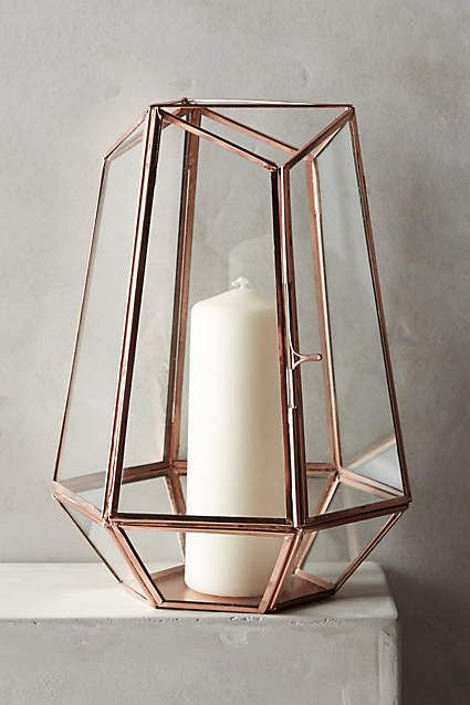 Rustic brass and copper meet geometric shapes in terrarium lanterns. For more information on how we could recreate this image visit www.stressfreehire.com or contact info@stressfreehire.com