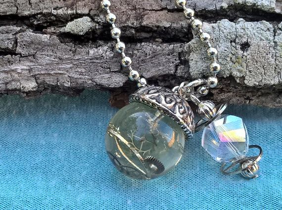 Steam Punk Diesel Punk Resin Sphere pendant by AllyKatTrinkets