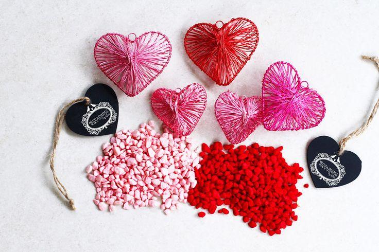 Valentine's Day terrarium accessories. Follow Terrariums by Adele on Facebook.