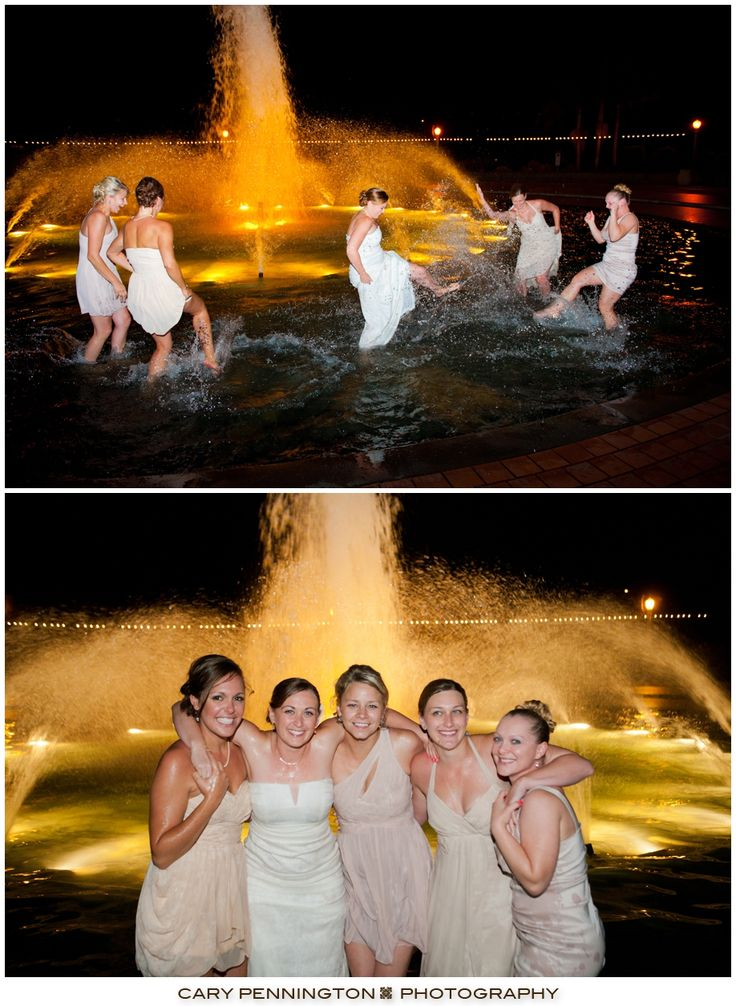 Nothing like a dip in the fountain with your maids!  Weddings at the Prado at Balboa Park | Cary Pennington Photography, San Diego Weddings @Matty Chuah Prado at Balboa Park- Weddings & Events @Balboa Park