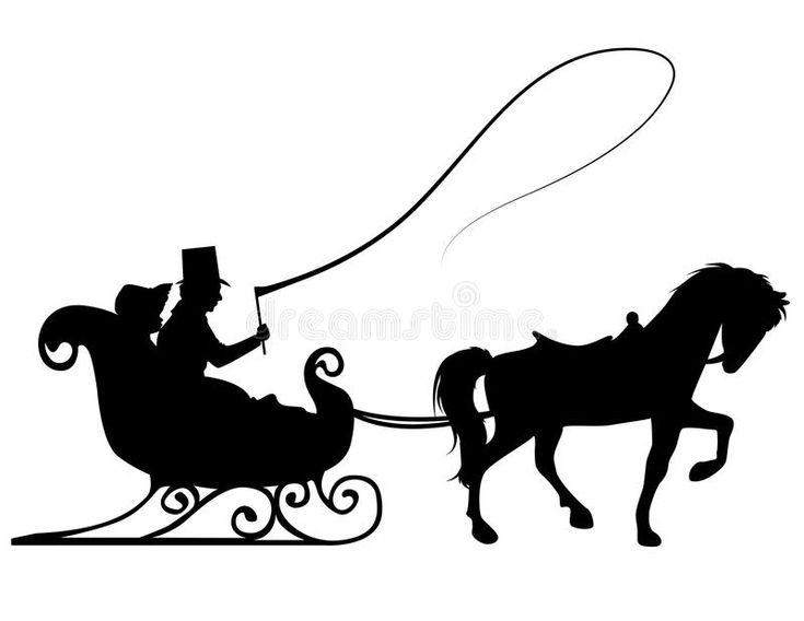 интересовал дед мороз на санях с лошадьми картинки силуэт упростят
