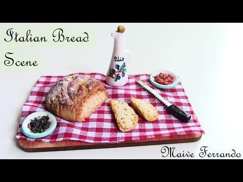 Italian Bread / Pagnotta - Miniature Polymer Clay Food Scene TUTORIAL   Maive Ferrando - YouTube