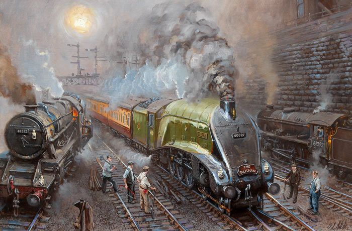 Fine Art Prints of Railway Scenes & Train Portraits - Merlin out of Newcastle by David Noble