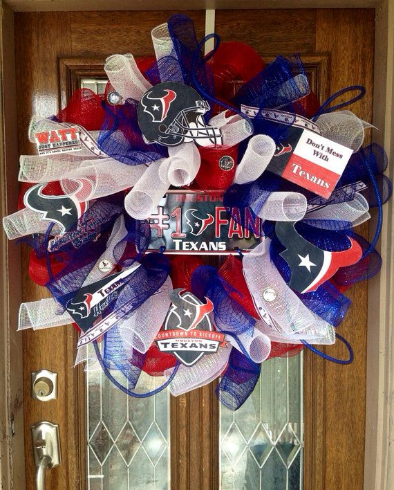 Houston Texans Deco Wreath  by SissyGirlsCreations on Etsy