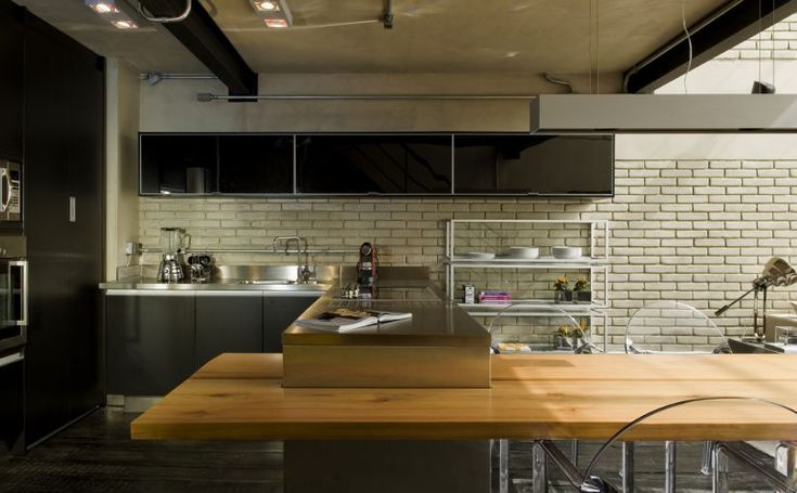 Cozinhas - Casa e Decoração - UOL Mulher: Loft Kitchen, Loft Apartment, Industrial Kitchens, Apartment Design, Interiors Design, Food Design, Diego Revollo, Industrial Loft, Loft Design
