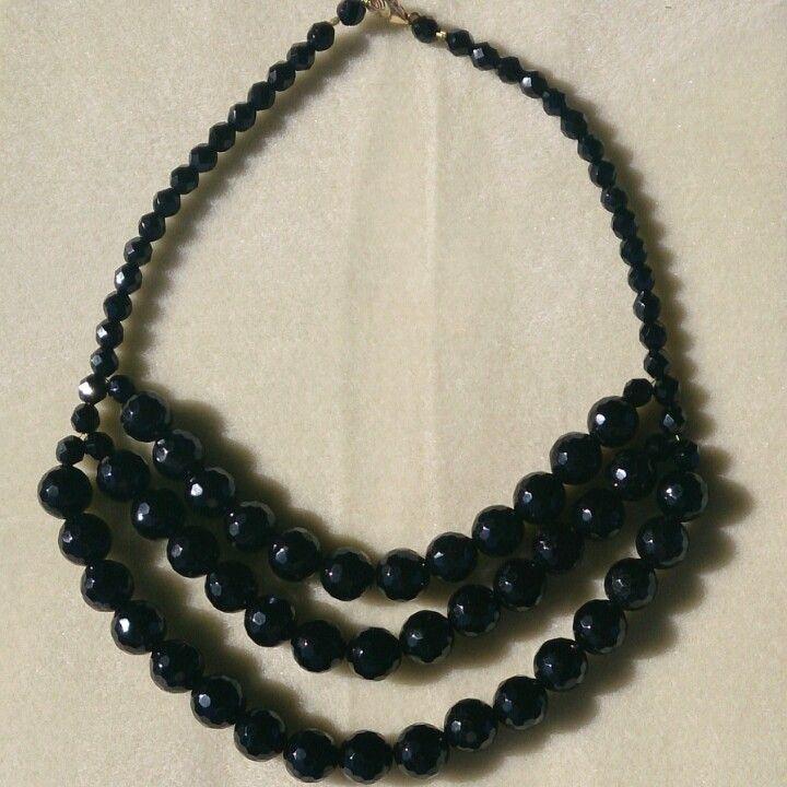 Black heaven - faceted black onyx
