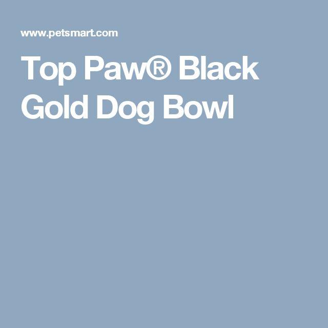 Top Paw® Black Gold Dog Bowl
