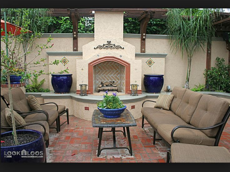 Spanish Style Backyard Patio Gardening Ideas