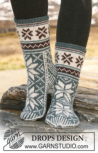 "Ravelry: 116-54 Socks with pattern in ""Karisma Superwash"" pattern by DROPS design"