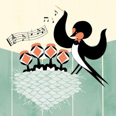 燕の雛の合唱