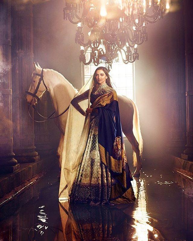 Deepika Padukone in photoshoot for Vogue magazine India.
