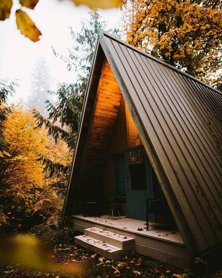 """15.8k Likes, 72 Comments - The Cabin Chronicles™ (@thecabinchronicles) on Instagram: """"Some might call this a cute A-frame. Others may call it an acute one. Both parties would be…"""""""