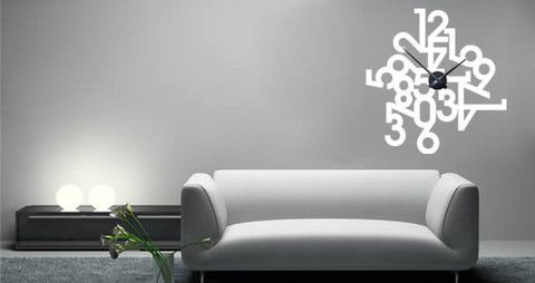 Scattered numbers randomly creates an interesting visual effect on this wall clock decal.  Visit this link for more designs: https://limelight-vinyl.myshopify.com/
