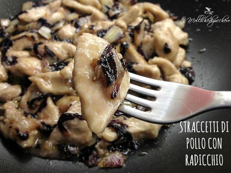 straccetti di pollo con radicchio Perfette eliminando olio e farina!
