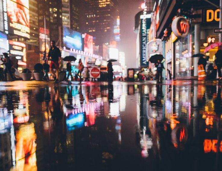 "djkrugman: "" Rainy Daze in New York City. Midtown, Manhattan, November 2015. Photography by Dave Krugman, @dave.krugman on Instagram. """