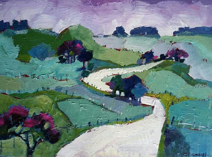 Country Road 40cm x 30cm www.paulinegough.com