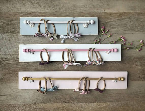 Organize and display your baby or young girls jewelry, headbands, and more! This custom designed headband holder is fully customizable. There are so many options available to make this headband holder special for you. Send us a message if you have a special request. This fully