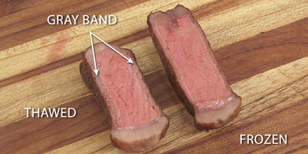 Cook steaks from frozen, rather than thawing them! Your taste buds will thank you!