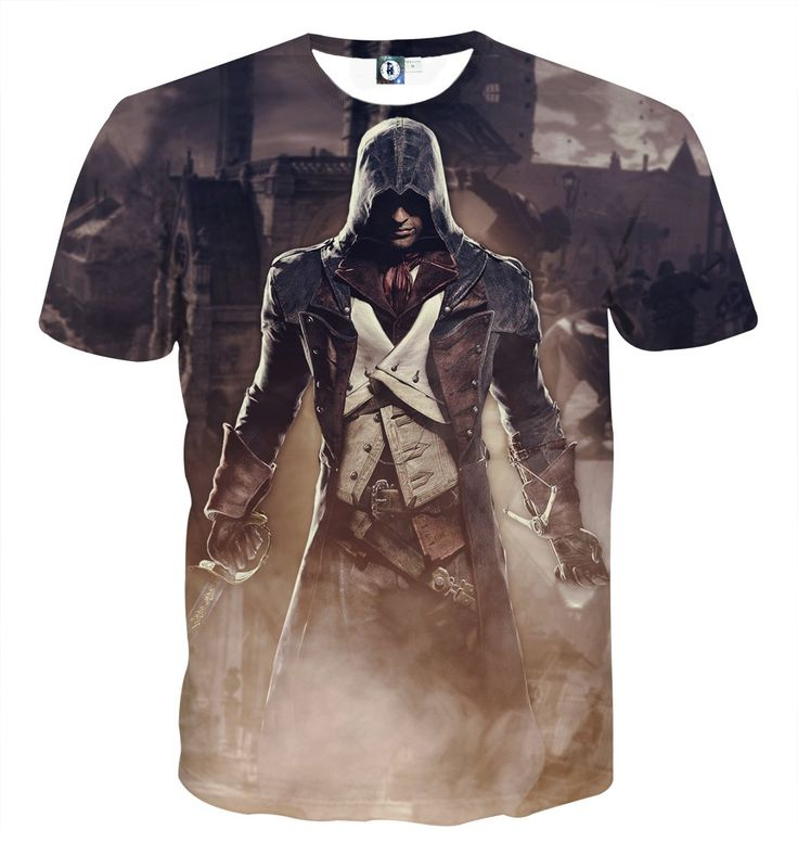 Assassin's Creed Unity Arno Dorian In Battlefield Style T-shirt    #Assassin'sCreed #Unity #ArnoDorian #In #Battlefield #Style #T-shirt
