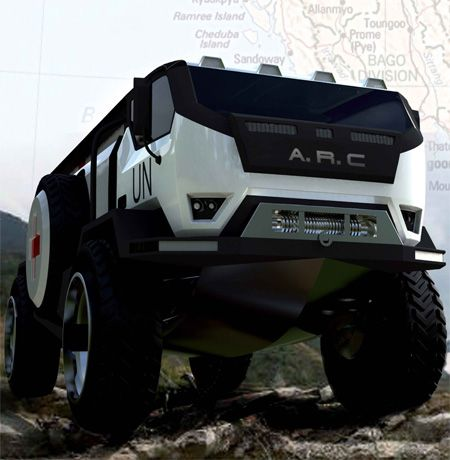 off road rescue trucks | Amphibious Rescue Craft, A.R.C, water jet propulsion