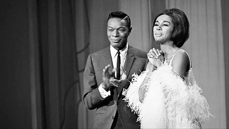 tammi-terrell:  Diahann Caroll and Nat King Cole on The Hollywood Palace, 1964